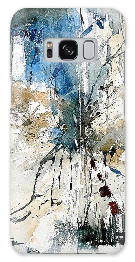 Abstract Galaxy S8 Case featuring the painting Watercolor 251108 by Pol Ledent