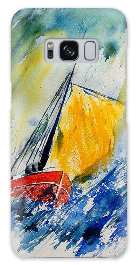 Sea Waves Ocean Boat Sailing Galaxy S8 Case featuring the painting Watercolor 280308 by Pol Ledent