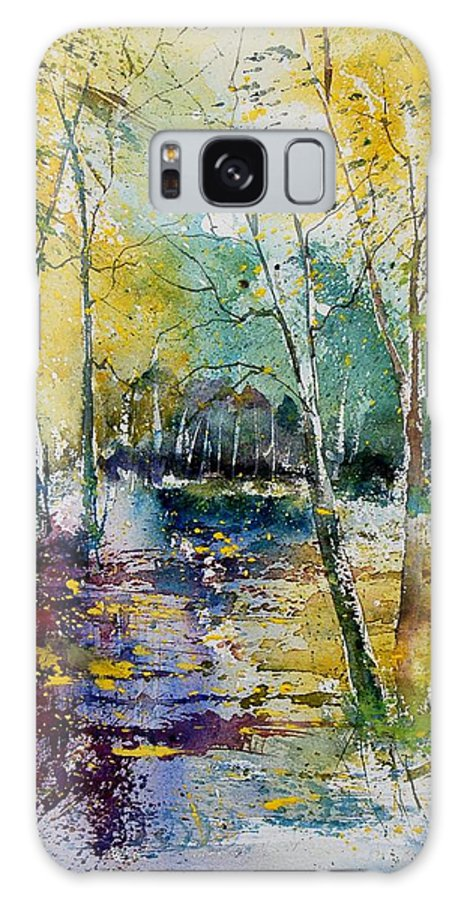 Pond Galaxy S8 Case featuring the painting Watercolor 280809 by Pol Ledent
