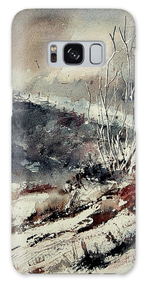 Winter Galaxy Case featuring the painting Watercolor 281207 by Pol Ledent