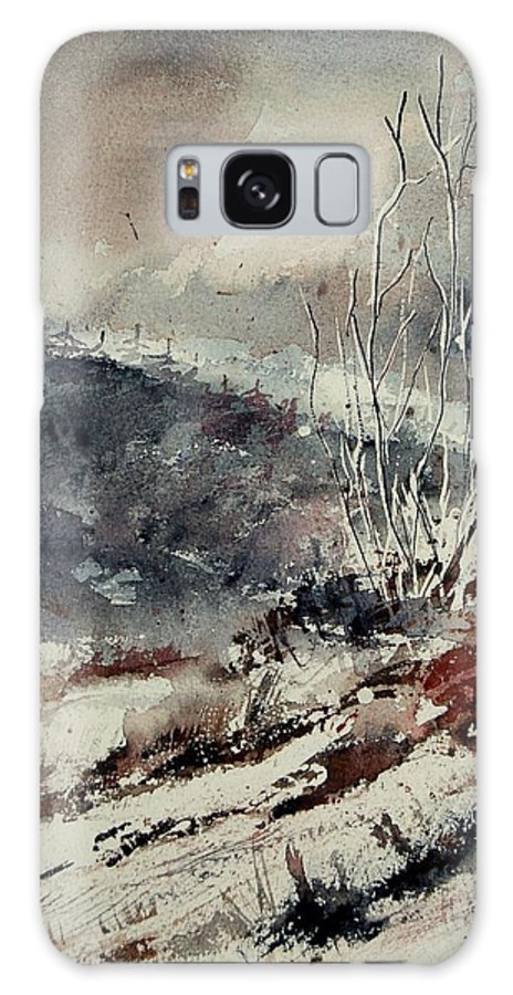 Snow Galaxy Case featuring the print Watercolor 446 by Pol Ledent