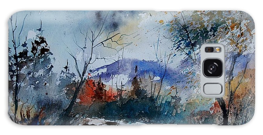 Landscape Galaxy Case featuring the painting Watercolor 802120 by Pol Ledent