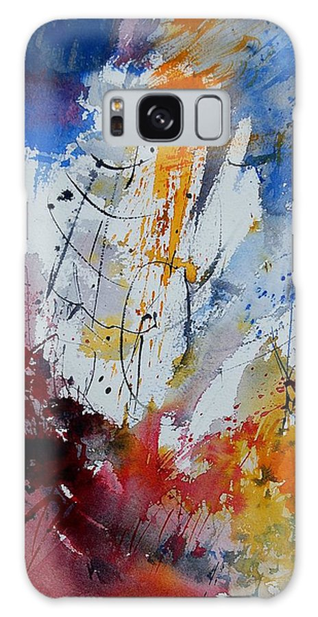 Abstract Galaxy S8 Case featuring the painting Watercolor 901120 by Pol Ledent