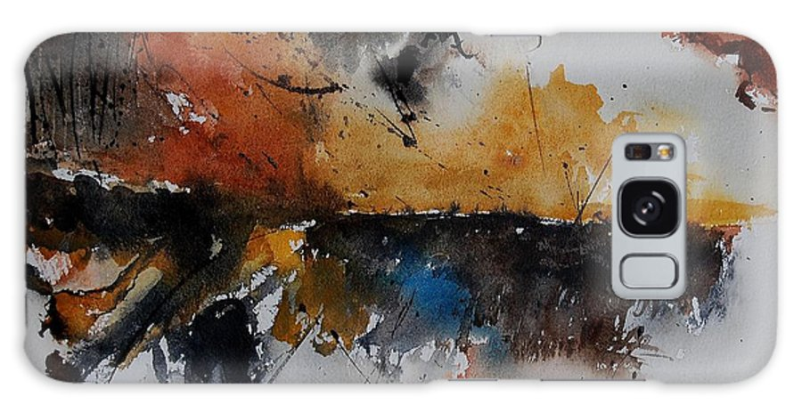 Abstract Galaxy S8 Case featuring the painting Watercolor 901150 by Pol Ledent