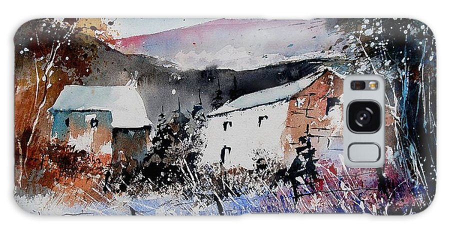 Winter Galaxy Case featuring the painting Watercolor 902080 by Pol Ledent