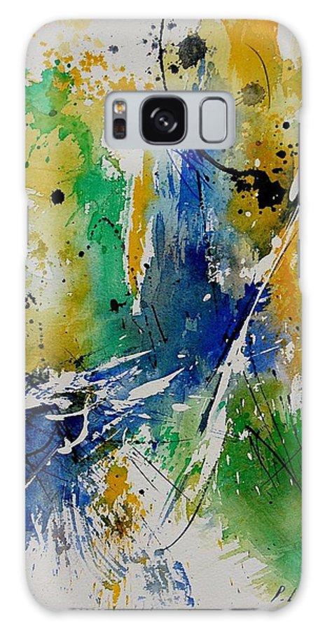 Abstract Galaxy S8 Case featuring the painting Watercolor 902180 by Pol Ledent