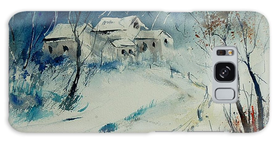 Winter Galaxy Case featuring the painting Watercolor 905001 by Pol Ledent