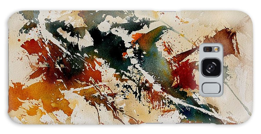 Abstract Galaxy S8 Case featuring the painting Watercolor 90861 by Pol Ledent