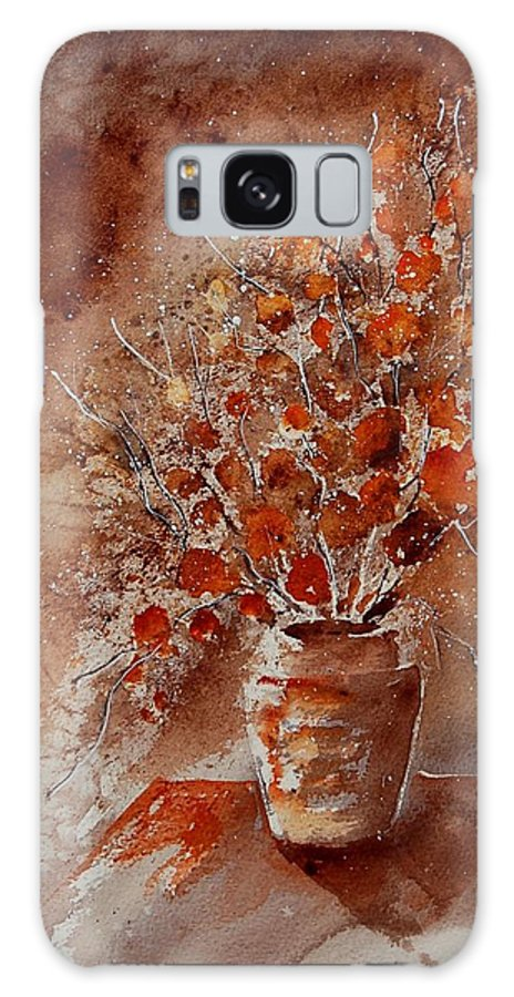 Poppies Galaxy S8 Case featuring the painting Watercolor Autumn Bunch by Pol Ledent