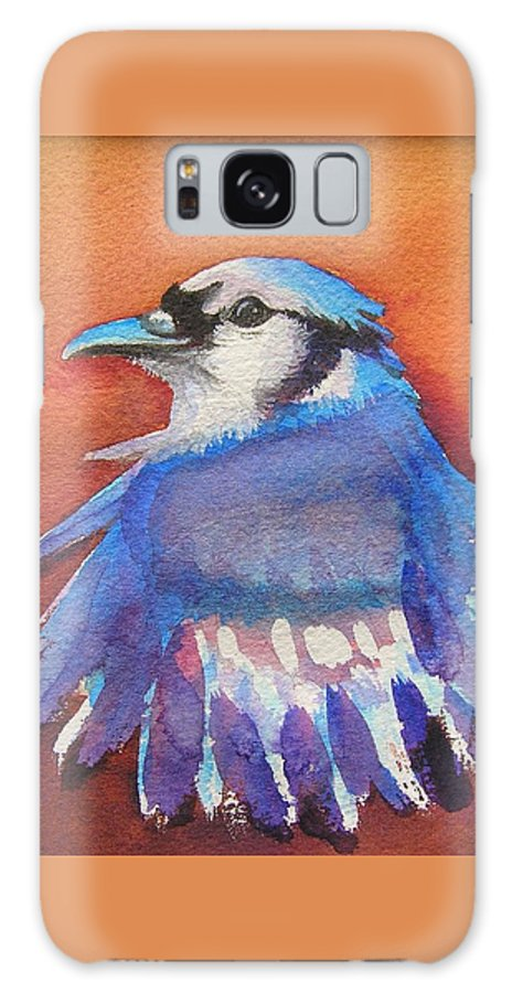 Bluejay Galaxy S8 Case featuring the painting Watercolor Blue Jay by Patricia Piffath