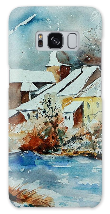 Landscape Galaxy Case featuring the painting Watercolor Chassepierre by Pol Ledent