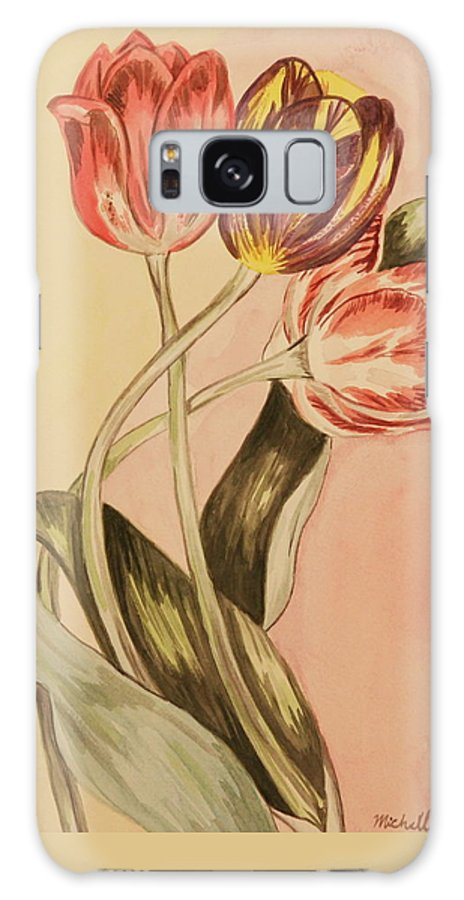 Flowers Galaxy Case featuring the painting Watercolor Flowers by Michelle Miron-Rebbe