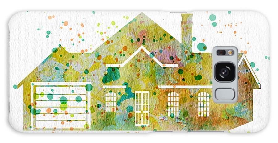 Watercolor Galaxy S8 Case featuring the painting Watercolor House by Oiyee At Oystudio