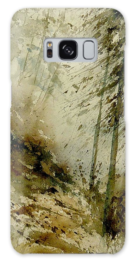 Landscape Galaxy Case featuring the painting Watercolor Misty Atmosphere by Pol Ledent