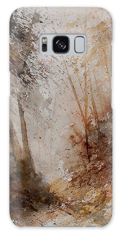 Landscape Galaxy S8 Case featuring the painting Watercolor Misty Path by Pol Ledent