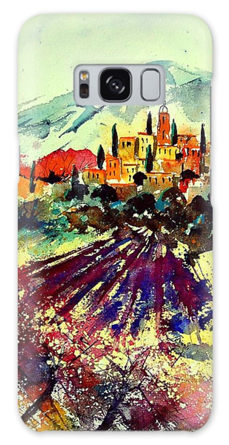 Poppies Galaxy S8 Case featuring the painting Watercolor Provence 07 by Pol Ledent