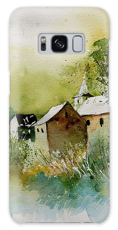 Landscape Galaxy S8 Case featuring the painting Watercolor Sosoye by Pol Ledent