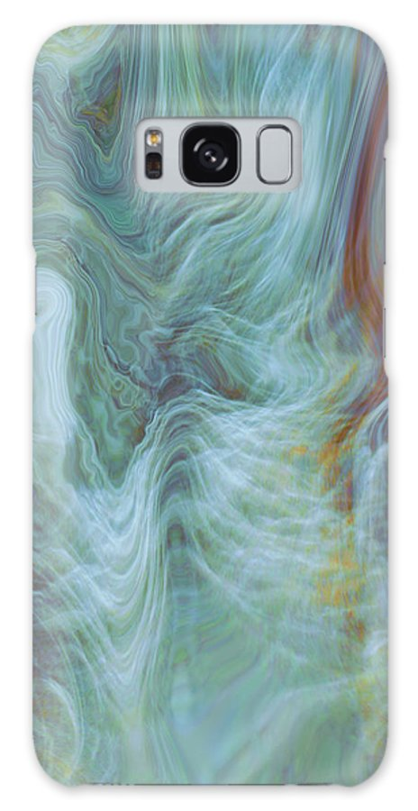 Spiritual Art Galaxy S8 Case featuring the digital art Waterfall Angel by Linda Sannuti