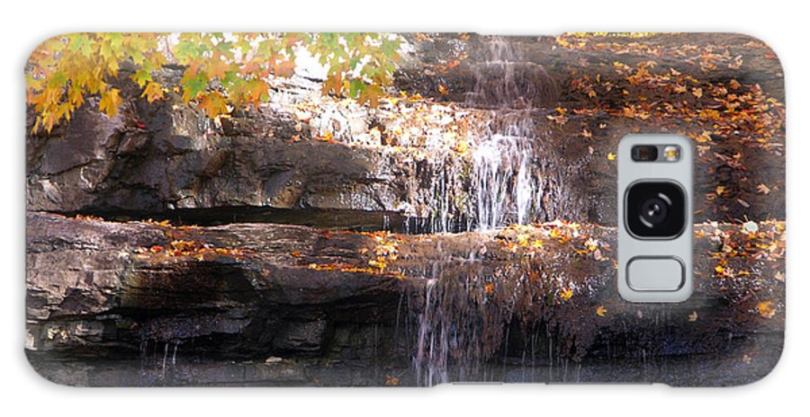 Waterfall Galaxy S8 Case featuring the photograph Waterfall In Creve Coeur by John Lautermilch