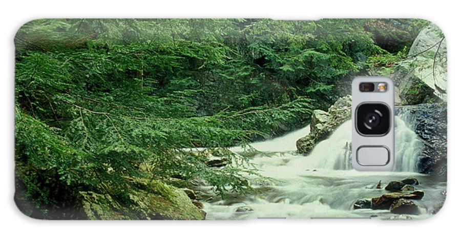 Waterfall Galaxy S8 Case featuring the photograph Waterfall In Hemlock Forest by John Burk