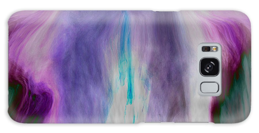 Abstract Art Galaxy S8 Case featuring the digital art Waterfall by Linda Sannuti