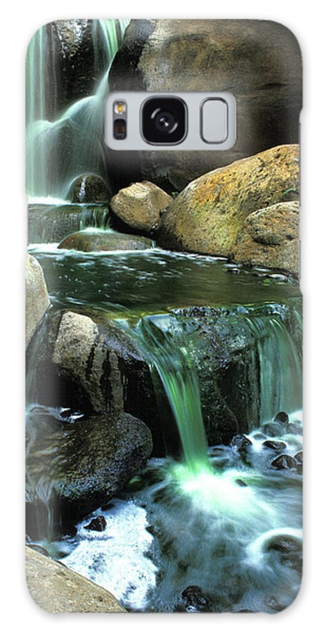 Water Galaxy S8 Case featuring the photograph Waterfall on Maui by Carl Purcell