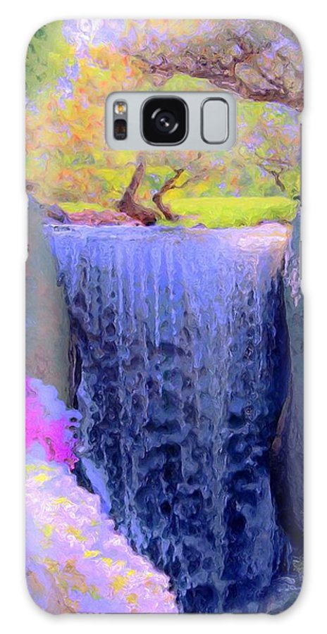 Tree Galaxy S8 Case featuring the painting Waterfall Spring Colors by Susanna Katherine