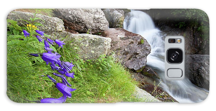 Wild Galaxy S8 Case featuring the photograph Waterfalls And Bluebells by Mircea Costina Photography