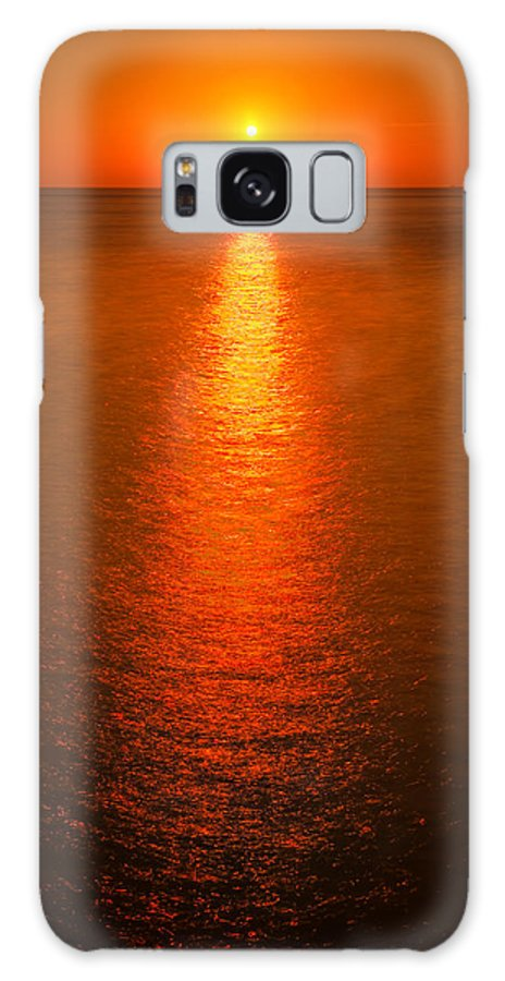 Lake Galaxy S8 Case featuring the photograph Waterfront Sunrise by Steve Gadomski