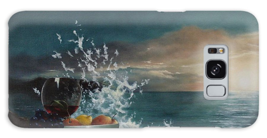 Seascape Galaxy Case featuring the painting Wave by Tjerk Reijinga