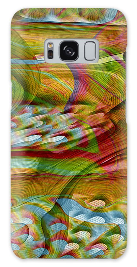 Abstracts Galaxy S8 Case featuring the digital art Waves And Patterns by Linda Sannuti