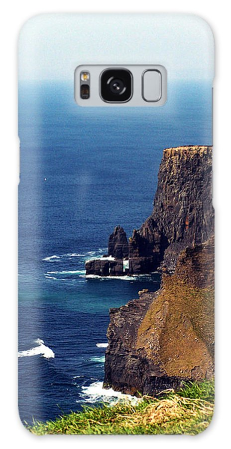 Irish Galaxy S8 Case featuring the photograph Waves Crashing At Cliffs Of Moher Ireland by Teresa Mucha