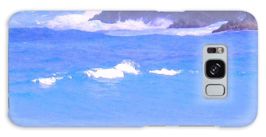 Ocean Galaxy S8 Case featuring the photograph Waves Crashing by Ian MacDonald