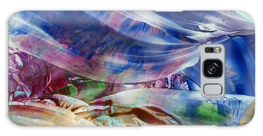 Waves Galaxy Case featuring the painting Waves by Eileen Fong