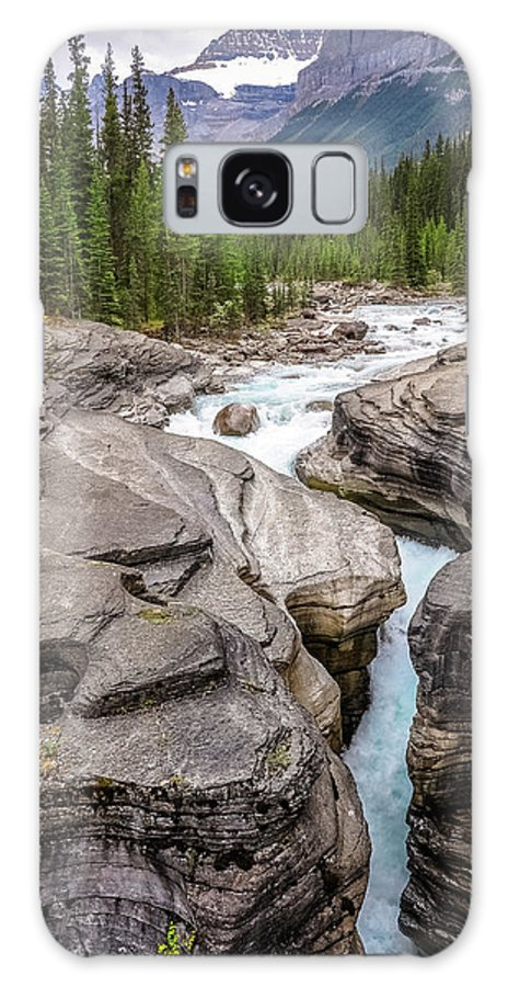 Canada Galaxy S8 Case featuring the photograph Waves Of ... Granite At Mistaya Canyon, Canada by Daniela Constantinescu