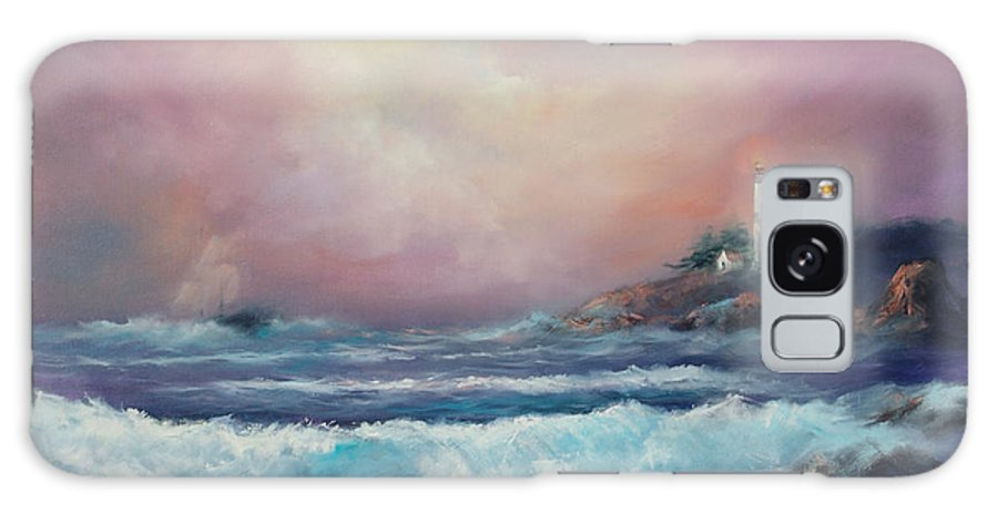 Ocean Galaxy Case featuring the painting Wayward Mariner by Sally Seago