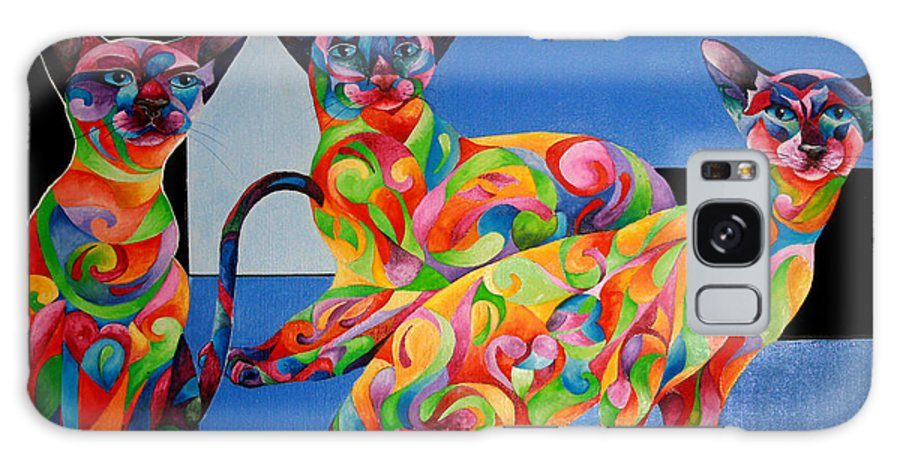 Cat Galaxy S8 Case featuring the painting We Are Siamese If You Please by Sherry Shipley