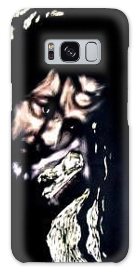 Portrait Galaxy Case featuring the mixed media Wear My Crown Down by Chester Elmore
