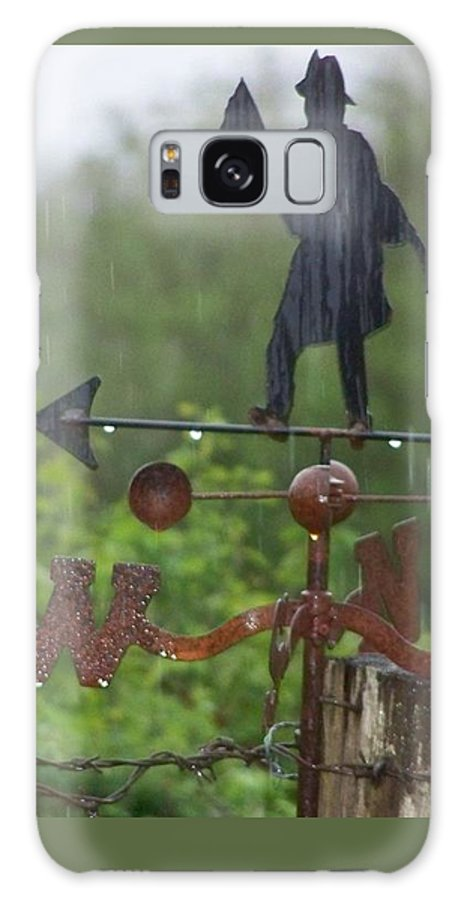 Digital Photography Galaxy Case featuring the photograph Weather Vane In The Rain by Laurie Kidd