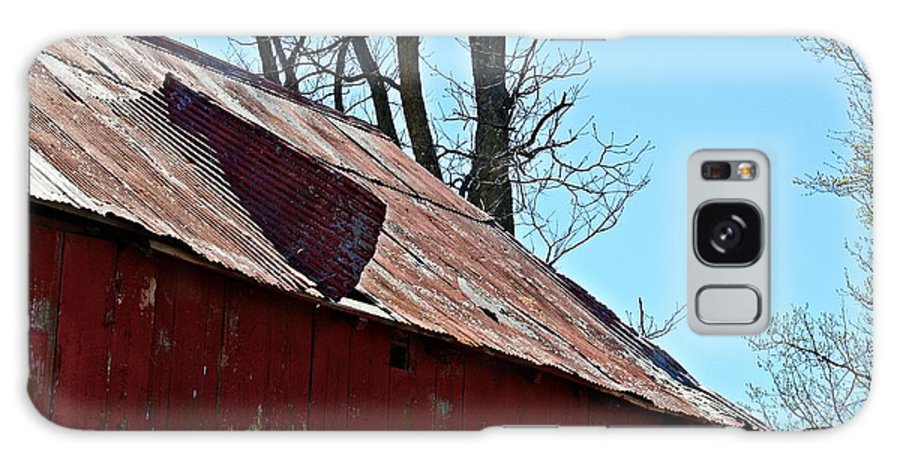 Barn Galaxy S8 Case featuring the photograph Weathered Barn Roof- Fine Art by KayeCee Spain