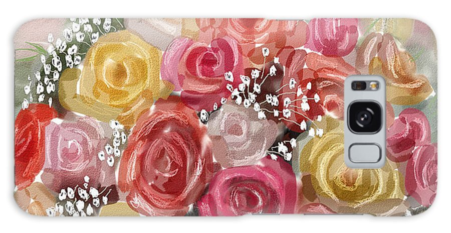 Roses Galaxy Case featuring the digital art Wedding Bouquet by Arline Wagner