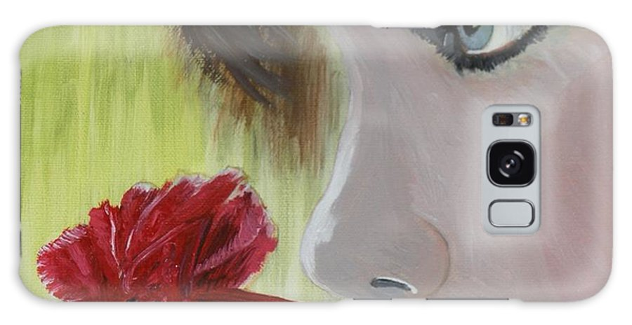 Romance Galaxy S8 Case featuring the painting Wedding Rose by J Bauer