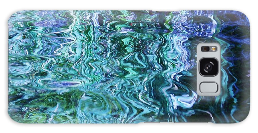 Photograph Blue Green Weed Shadow Lake Water Galaxy Case featuring the photograph Weed Shadows by Seon-Jeong Kim