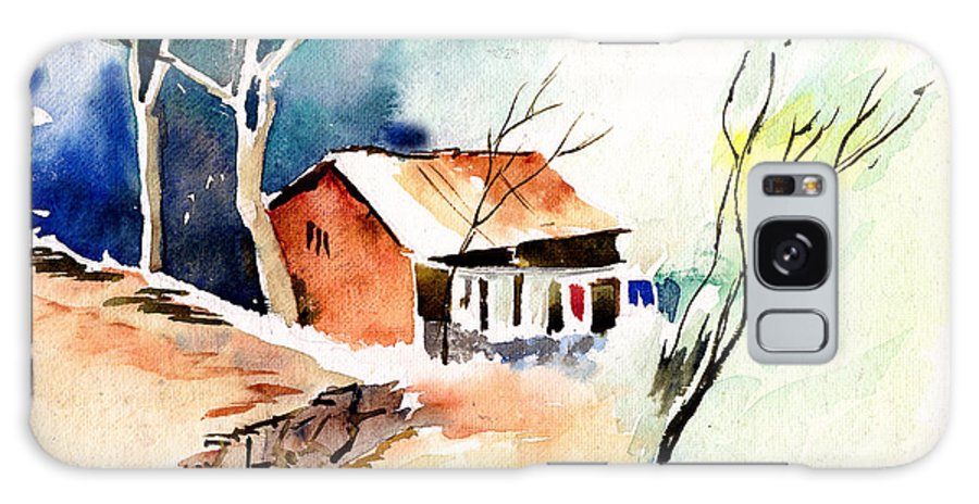 Nature Galaxy Case featuring the painting Weekend House by Anil Nene