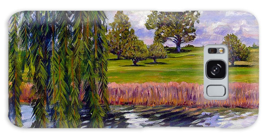 Landscape Galaxy Case featuring the painting Weeping Willow - Brush Colorado by John Lautermilch