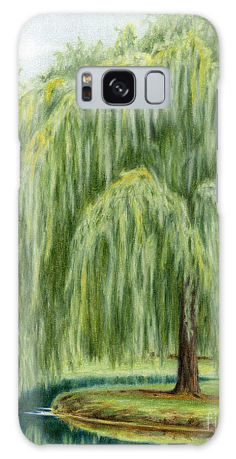 Willow Trees Galaxy S8 Case featuring the painting Under The Willow Tree by Sarah Batalka