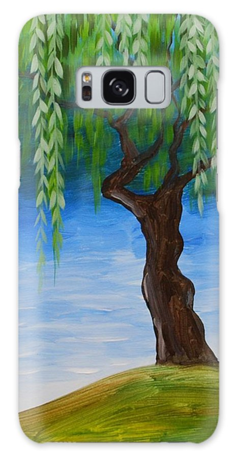 Weeping Willow Galaxy S8 Case featuring the painting Weeping Willows by Emily Page