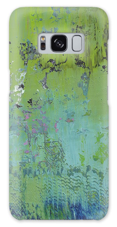 Abstract Galaxy S8 Case featuring the painting Weeping Willows by Marcy Brennan