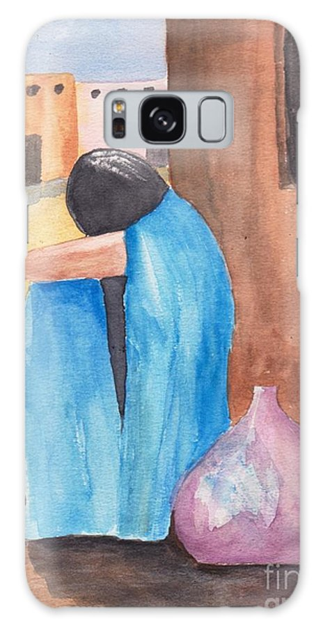 Southwest Galaxy S8 Case featuring the painting Weeping Woman by Susan Kubes