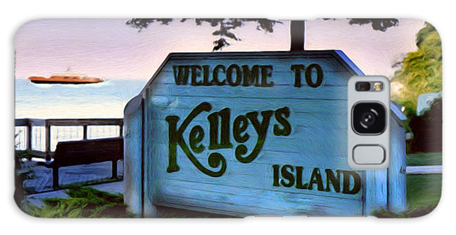 Island Galaxy Case featuring the painting Welcome To Kelleys Island by Kenneth Krolikowski